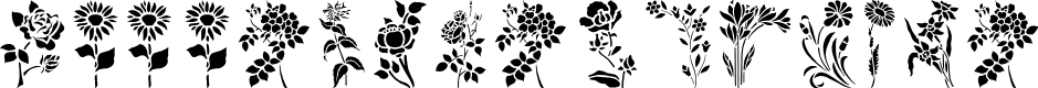 Preview image for HFF Floral Stencil Font
