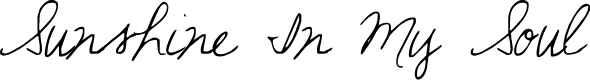 Preview image for Sunshine In My Soul Font