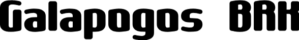 Preview image for Galapogos BRK Font
