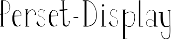 Preview image for Perset-Display Font