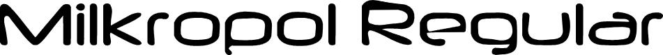 Preview image for Milkropol Regular Font