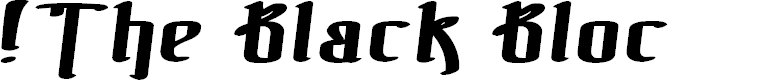 Preview image for !The Black Bloc Bold Italic