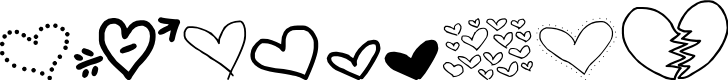 Preview image for MTF Heart Doodle Font