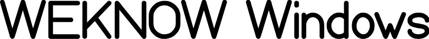 Preview image for WEKNOW Windows Font