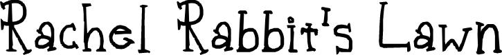Preview image for Rachel Rabbit's Lawn Font