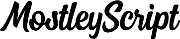 Preview image for MostleyScript Font