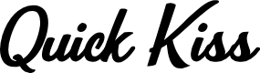 Preview image for Quick Kiss Personal Use  Font