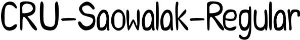 Preview image for CRU-Saowalak-Regular