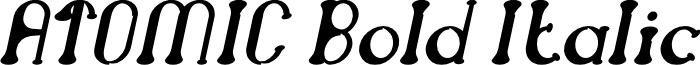 ATOMIC Bold Italic