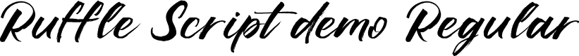 Preview image for Ruffle Script DEMO Regular