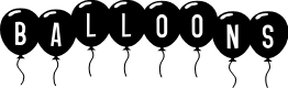 Preview image for SF Balloons Font