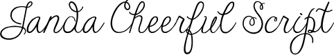 Preview image for Janda Cheerful Script Font