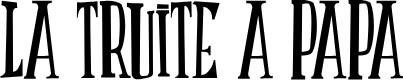 Preview image for LATRUITEAPAPA B Font