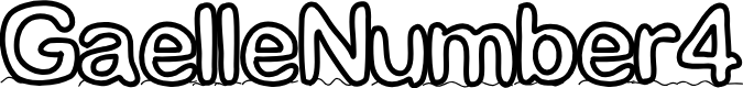 Preview image for GaelleNumber4 Font
