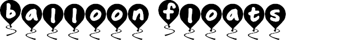 Preview image for Balloon Floats Font