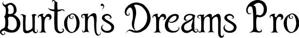 Preview image for Burton's Dreams Pro Font