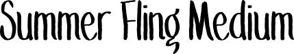 Preview image for Summer Fling Medium Font