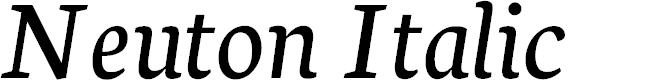Preview image for Neuton Italic