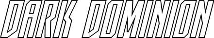 Preview image for Dark Dominion Outline Italic