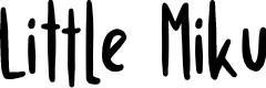Preview image for Little Miku Font