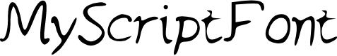 Preview image for MyScriptFont