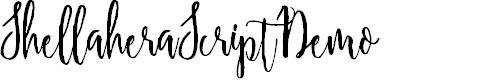 Preview image for ShellaheraScriptDemo Font