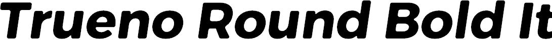 Preview image for Trueno Rounnd Bold Italic