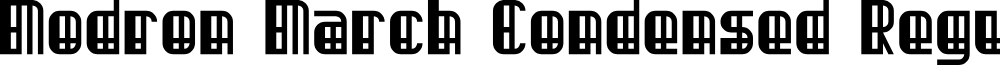 Modron March Condensed Regular