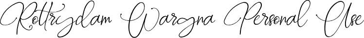 Preview image for Rottrydam Wargna Personal Use Font