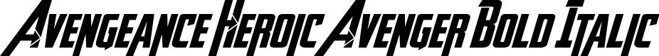 Preview image for Avengeance Heroic Avenger Bold Italic