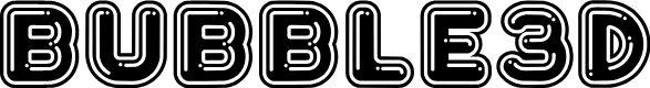 Preview image for Bubble3D Font
