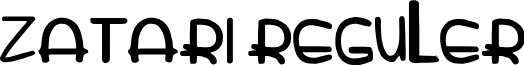 zatarireguler font