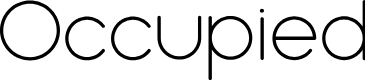 Preview image for Occupied Font