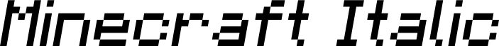 Minecraft Italic