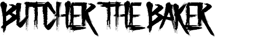 Preview image for Butcher the Baker Font