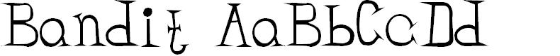 Preview image for Bandit Regular Font