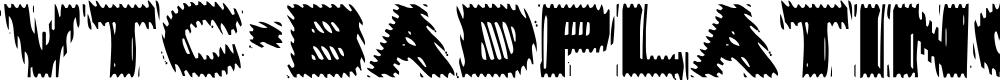 Preview image for VTC-BadPlating Font
