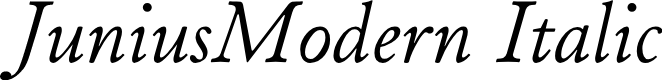 Preview image for JuniusModern Italic