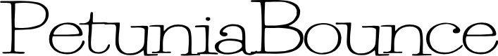 Preview image for PetuniaBounce Font