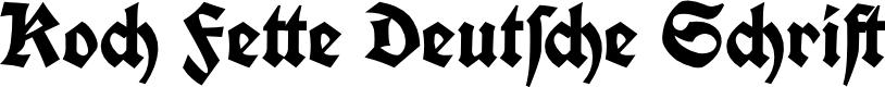 Preview image for Koch Fette Deutsche Schrift Font