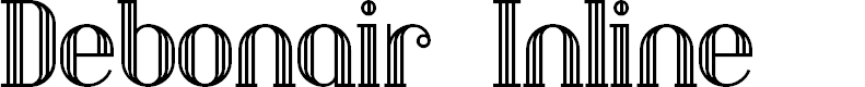 Preview image for DebonairInline Font
