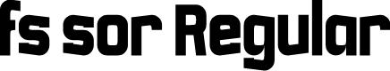 Preview image for fs sor Regular Font