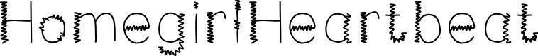 Preview image for HomegirlHeartbeat Font