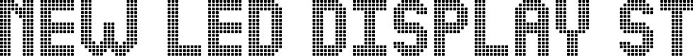 Preview image for NEW LED DISPLAY ST Font