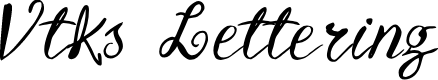 Preview image for Vtks Lettering Font