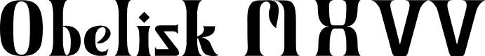 Preview image for Obelisk MXVV Regular Font