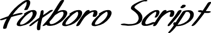SF Foxboro Script Extended Bold Italic