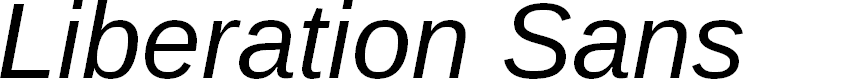 Preview image for Liberation Sans Italic