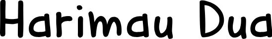 Preview image for DKHarimauDua Font