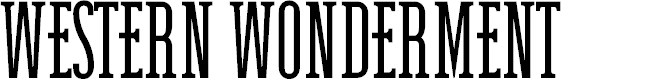 Preview image for Western Wonderment Font